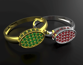 3D print model Ladies Diamond Ring diamond