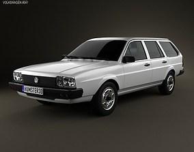 3D Volkswagen Passat B2 variant 1981
