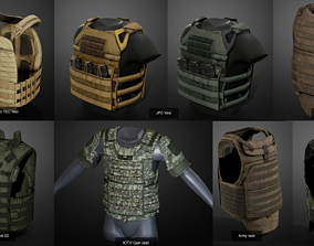 3D model Bulletproof vests pack