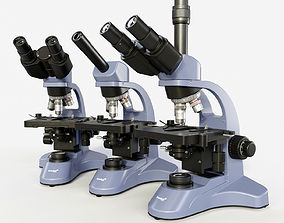 Microscopes Levenhuk 3D model