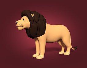 Cartoon Lion 3D asset