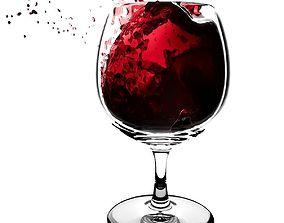 3D Splash Wineglass 5