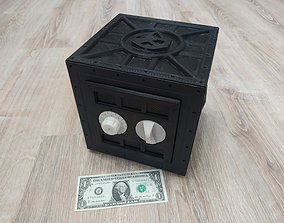 Safe with combination lock 3D print model