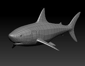 3D SHARK low-poly