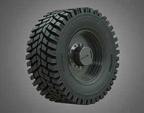 3D model Wheel Loader W190D Wheel and Tire