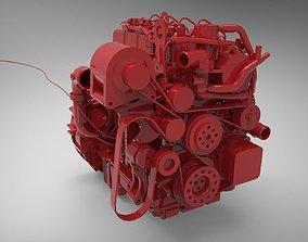 3D model Engine Cummins ISF 2