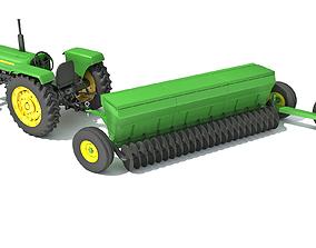 3D Tractor Disc Harrow