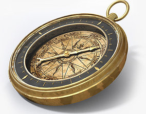 Antique Compass 3D antique