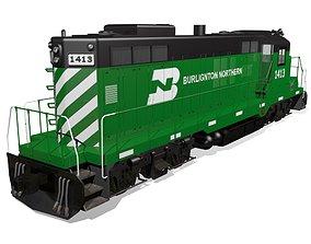 Diesel Locomotive 3D