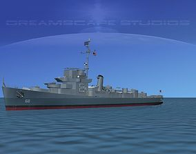 Destroyer Escort DE-68 USS Bates 3D
