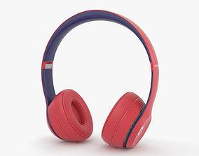 Beats Solo 3 Wireless Red 3D model
