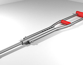 Walking Aids - Underarm Crutch 3D model