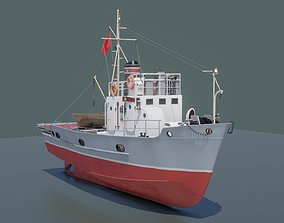 Soviet small fishing seiner MRS-80 3D asset