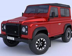 v8 3D model Land Rover Defender works V8 2018