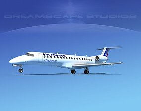 3D model Embraer ERJ-145 Air France Regional