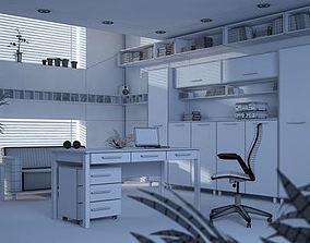 Modern Office Room office-interior 3D model