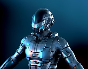 Space trooper 3D asset