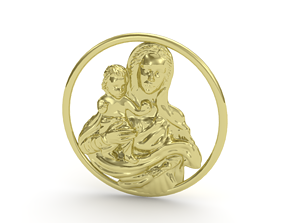gold Pendant saint 3D print model