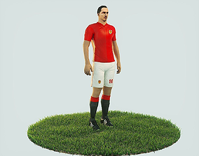 3D asset Ibrahimovic football Player game ready character