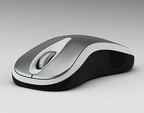 Black, Grey And White Computer Mouse 3D