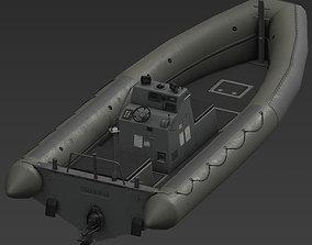 RHIB boat 3D asset