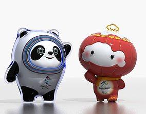 Beijing Winter Olympic Games Bing Dwen Dwen 3D model 2