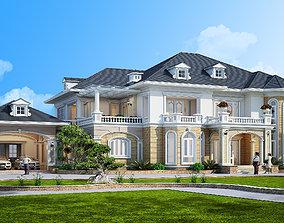 animated 3D model villa