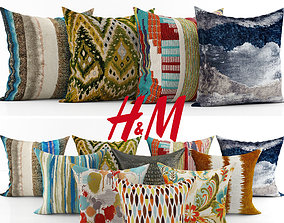 Collection of decorative pillows - 4 3D model