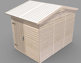 Wooden Garden Shed High-Poly Version 3D model