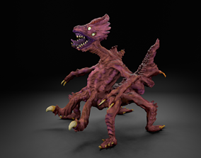 3D model The thing monster alien UFO creature