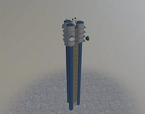 3D model Prague Water Tower