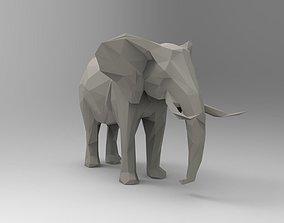 Elephant 3D Printable low-poly