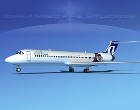 3D Boeing 717-200 Air Tran 2