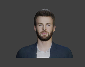 3D model game-ready captain america actor