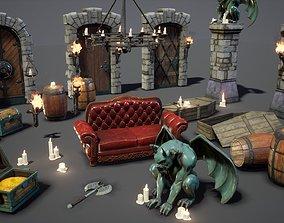 3D model Fantasy Props Interior Pack