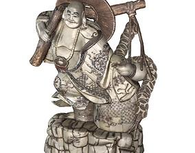 Bone Buddha 3D asset