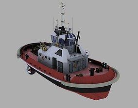 Tugboat industrial 3D model