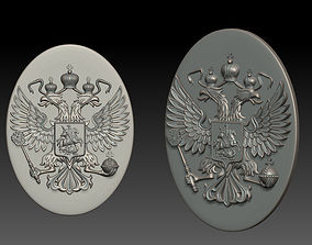 Russia coat of arms 3D printable model