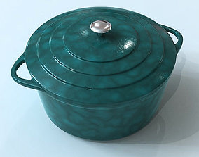 3D model Blue Cooking Dish
