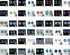 10000 Women Diamond Earrings 3dm detail bulk