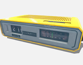 3D asset Low Poly PBR Clock Radio
