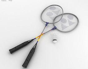 3D model Badminton Racket and Shuttlecock