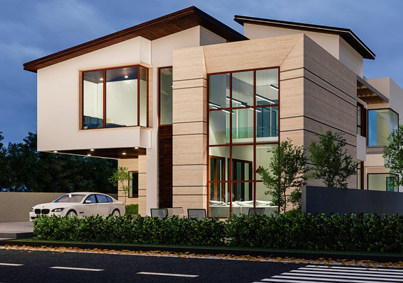 MODERN HOUSE FRONT FACADE DESIGN AND RENDER IN LUMION 8.5 PRO
