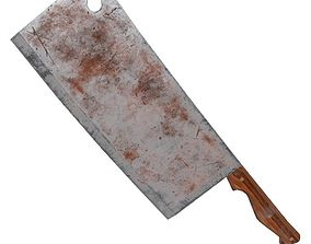 3D asset Rusty Butcher Knife