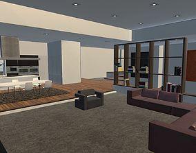 Realistic Modern Apartment 3D asset