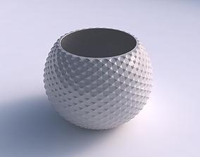 3D printable model Bowl spheric with grid piramides