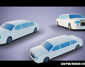 3D model Low Poly Vehicle - Vanilla Limousine