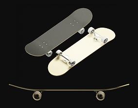 Skateboard game-ready sporting 3D model