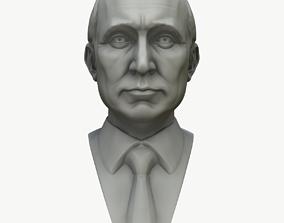 bronze 3D Vladimir Putin Bust Ready To Print
