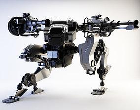 robot war game 3D rigged